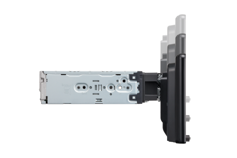 Side-view of XAV-AX8000 mount with height adjustment