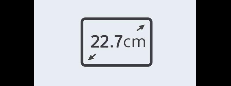22.7-cm display icon