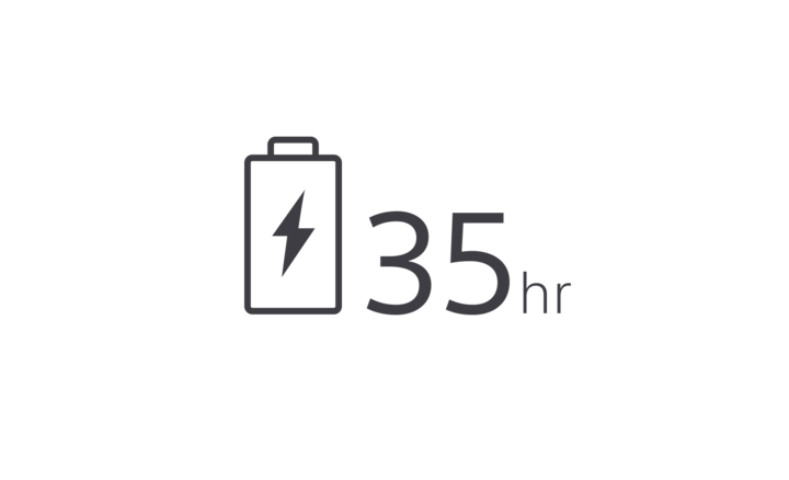 35-hour battery