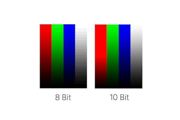8 bit vs 10 bit color comparison