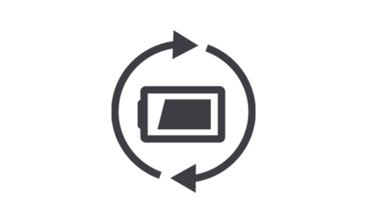 Long-lasting battery icon
