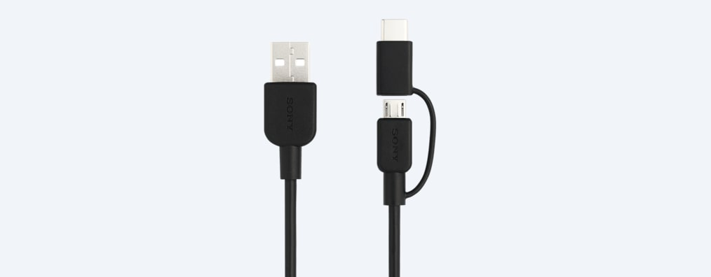 Images of 2-in-1 USB-C™ and Micro USB cable