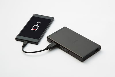Powerful 5,000 mAh battery/charger