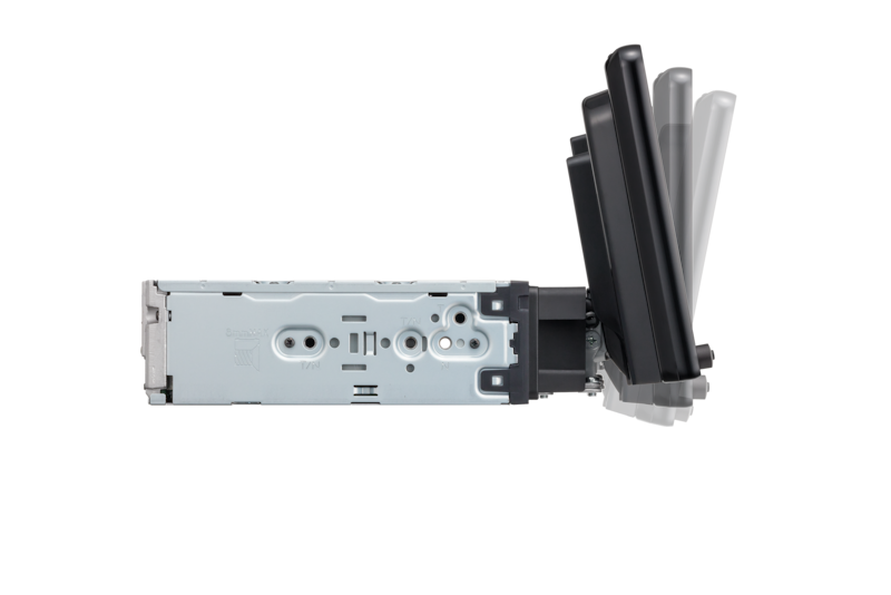 Side-view of XAV-AX8000 mount with tilt adjustment