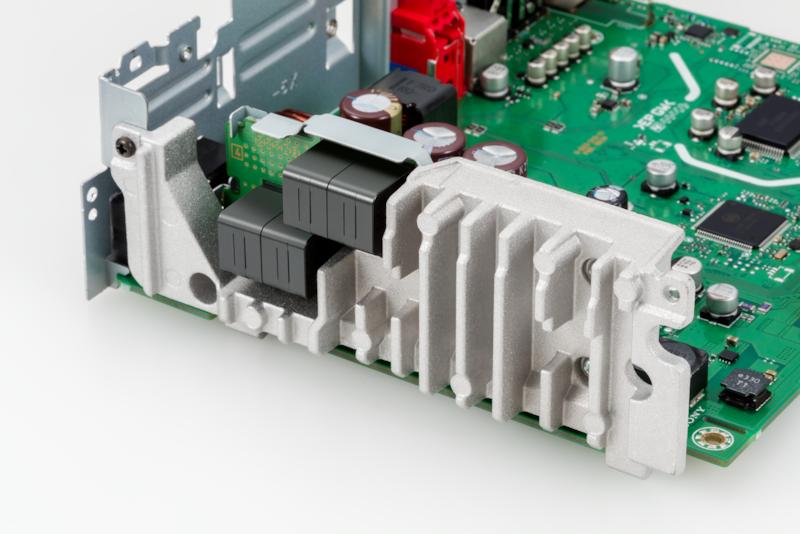 Image of oversized heat sink for efficient ventilation
