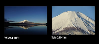 10x zoom captures subjects near or far