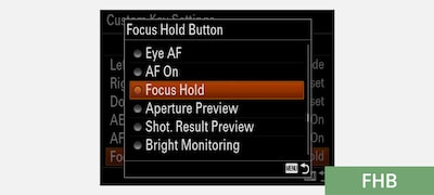 Customisable focus hold button