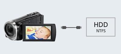 Άμεση αντιγραφή από τη Handycam®