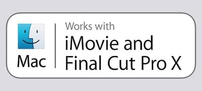 ใช้ได้กับ iMovie และ Final Cut Pro X