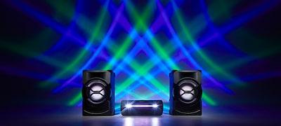 Οι λυχνίες LED του ηχείου δημιουργούν ατμόσφαιρα για πάρτι