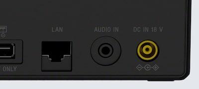 อินพุตเสียงอนาล็อกและพอร์ต Ethernet