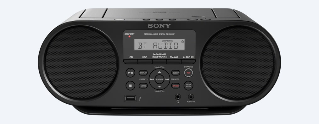 cd boombox with bluetooth zs rs60bt sony us. Black Bedroom Furniture Sets. Home Design Ideas