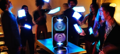 Pump up the atmosphere with speaker lights and Party Light via Fiestable