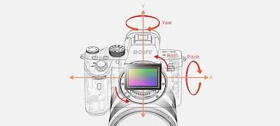 Ενσωματωμένη λειτουργία σταθεροποίησης εικόνας σε 5 άξονες με πλεονέκτημα ταχύτητας κλείστρου έως και 5,5 θέσεις
