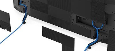 Passage de câbles intégré pour une installation parfaite