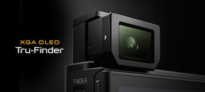 Bright XGA OLED Tru-Finder for inspired shooting