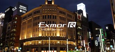 เซนเซอร์ Exmor R™ CMOS สำหรับความไวพิเศษ