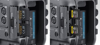 Two CFexpress Type A-compatible media slots