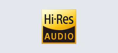 High-Resolution Audio for uncompromised sound