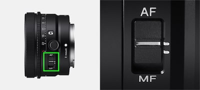 Easy manual/auto focus switching