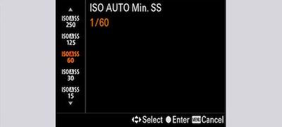ISO auto minimum shutter speed
