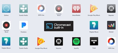 Stream with Chromecast built-in