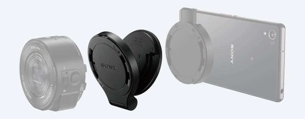 kit avec adaptateur inclinaison et poign e pour appareils photo smart lens qx adp fsk1 sony fr. Black Bedroom Furniture Sets. Home Design Ideas