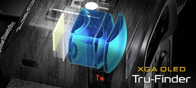 0.78x magnification XGA OLED Tru-Finder™