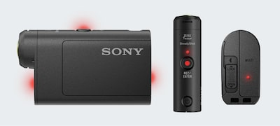 Πρόσθετα φώτα εγγραφής για εύκολη αναγνώριση της κατάστασης της κάμερας