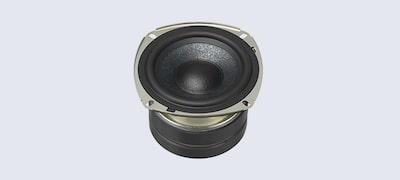 Ευκρινής, καθαρός ήχος με ενισχυμένο κώνο Mica Reinforced Cellular (MRC)
