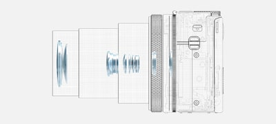 High-resolution, compact optical design
