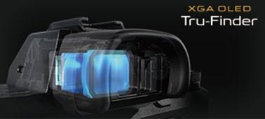 XGA OLED Tru-Finder™ ให้ความเปรียบต่างและความละเอียดสูง