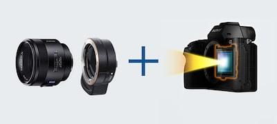 Lấy nét tự động theo pha mặt phẳng tiêu với ống kính A-mount