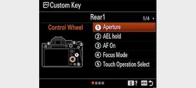 Interfejs menu z możliwością szybkiego dostosowania