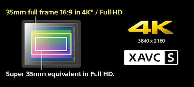 Internal 4K movie recording and XAVC S format