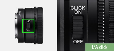 Switchable aperture-ring click stops