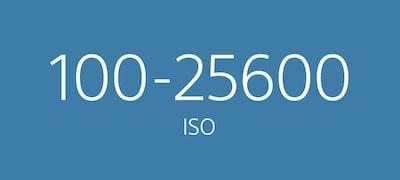 Wide sensitivity range from ISO 100-25600