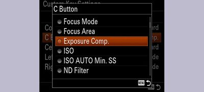 Customisable function settings
