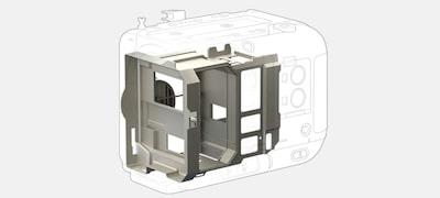 Thân máy làm bằng hợp kim ma nhê có độ bền cao và trọng lượng nhẹ
