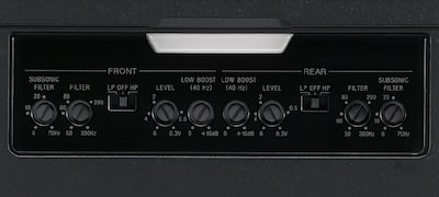 Dedicated control section for fine-tuned audio