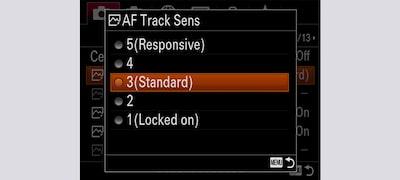 Reglarea sensibilităţii la urmărirea cu focalizare automată