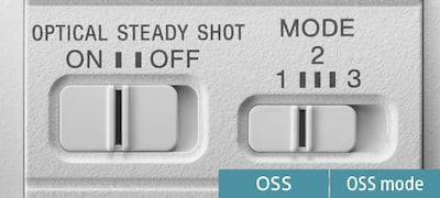3-mode Optical SteadyShot