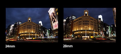 24mm emphasizes full-frame visual impact