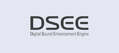 DSEE automatically restores detail to digital music