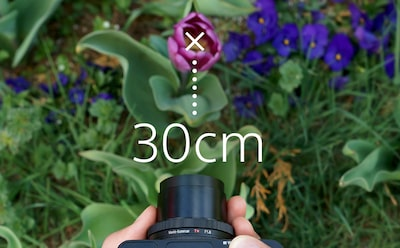 "Sony DCS-RX100 III Cyber-shot digital camera provides a 30cm (12"") working distance"