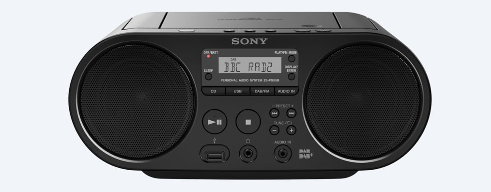 draagbare radio cd speler met usb dab cd player zs. Black Bedroom Furniture Sets. Home Design Ideas