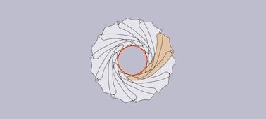 11 bladed round diaphragm