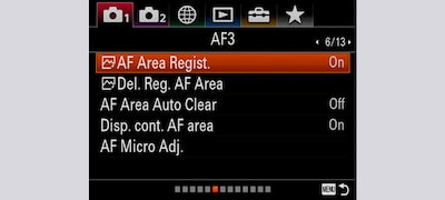 ฟังก์ชัน Focus Area Registration