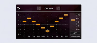 Sculpt your sound with 10-band graphic equalizer