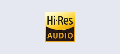 Superior sound with High-Resolution Audio